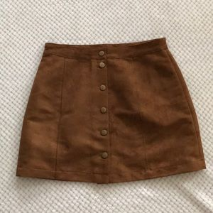 Old Navy Suede Mini Skirt